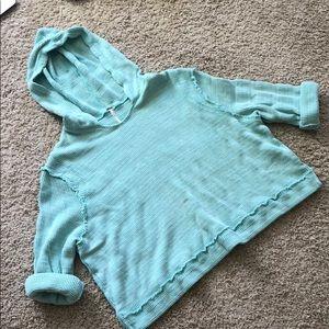 Free people crochet knit hoodie